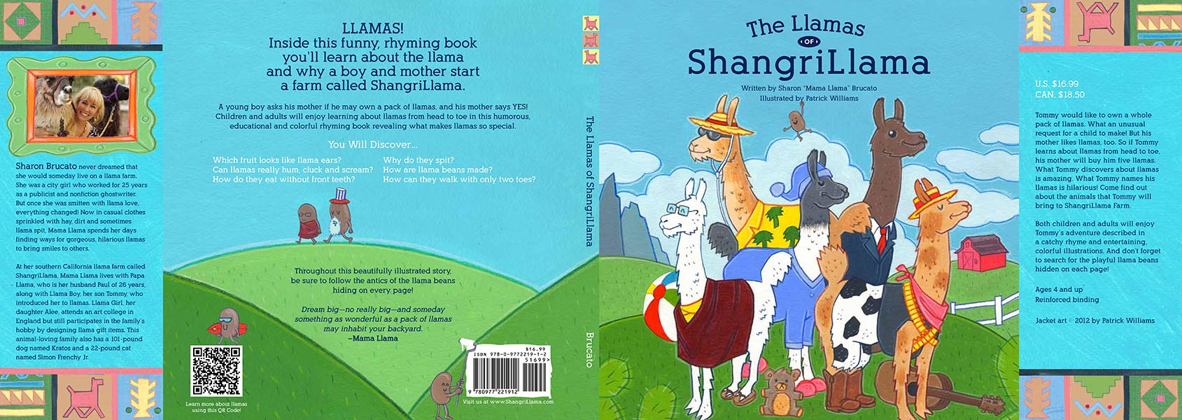 The Llamas of Shangrillama dust jacket and cover
