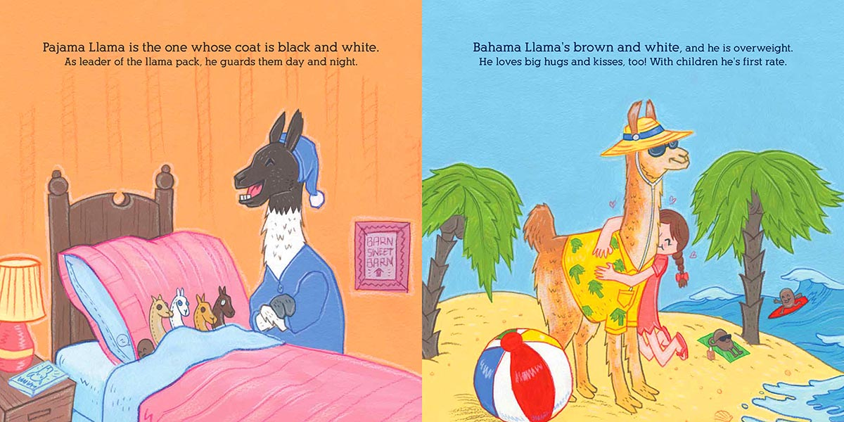 Double page spread from Llamas of Shangrillama